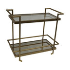 Bassett Mirror - Tea Cart - 38 in. W x 20 in. D x 34 in. H