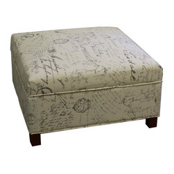 None - Old World Squared Storage Ottoman - Add a sense of old world style to your home's decor with the help of this stylish and attractive ottoman. Featuring ample storage space,this ottoman will also help to keep your room a little more organized.