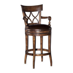 EuroLux Home - New Stool Counter  Brown/Beige/Tan Wood - Product Details