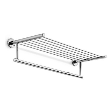 WS Bath Collections - 24.4 in. Towel Bar - Contemporary style. Designer high end quality. Warranty: One year. Made from solid brass base. Polished chrome color. Made in Italy. No assembly required. 24.4 in. W x 9.3 in. D x 5.5 in. H (3 lbs.). Specs sheetUnique and fine bath accessories and complements, that provide inspirational solutions for every decor.