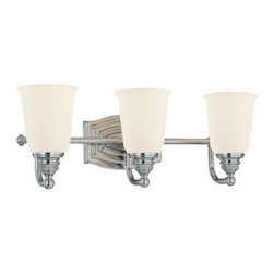 Minka Lavery - Minka Lavery 6453 3 Light Bathroom Vanity Light from the Clairemont Collection - Three Light Bathroom Vanity Light from the Clairemont CollectionFeatures: