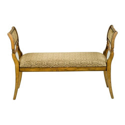 Safavieh - Safavieh Brody Bench X-A2204HMA - The Biedermeier-style Brody bench is a vision of sophistication and simplicity. The gentle curves of Light oak-finished Birch legs enhance the soft, Light Brown hue and subtle paisley pattern of the Cotton fabric. Brody�s aesthetic restraint makes it a graceful addition to the entry hall or the end of the bed to pile on dog-eared volumes and lush, cashmere throws.