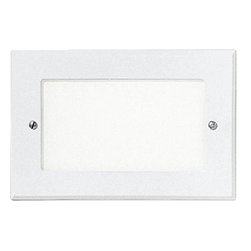 "Progress Lighting - Progress Lighting P6826-30 Step Lights One Light Step Lights in White - Spring-held white louver faceplate. Metal housing has 1/2"" I.P. conduit entry. For indoor and protected outdoor use. Standard 120V NPF ballast with a shatter-resistant white acrylic faceplate."