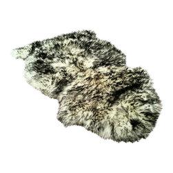 Gambrell Renard - Gambrell Renard Classic Sheepskin Rug Salt & Pepper - GR Classic Sheepskin Rug/Throw