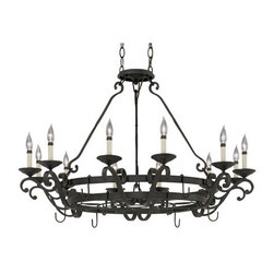 Designers Fountain - Designers Fountain 9031-NI 12 Light Chandelier from the Barcelona Collection - Features: