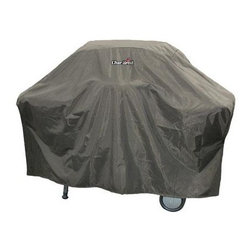 "Char-Broil - 66"" Tan Grill Cover - Tan Grill Cover fits cart style grills up to 66"" x 26""; Heavy duty nylon lined vinyl; Nylon closure strips; Crack and fade resistant vinyl; Cleans easily with soap and water; Leak tested seams."