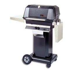 MHP Grills - 40000 BTU LP Gas Grill Head w Black Column & Patio Base - Includes 40000 BTU LP gas grill head, column and patio base. 40000 BTU LP gas grill head:. Total cooking area: 642 sq. in.. 40,000 BTU rated per-hour input. 0.31 in. 2-Piece stainless steel cooking grid. Stainless steel swing-away warming rack. High profile lid to handle all rotisserie functions, accommodating large cuts of meats and big Tom turkeys . Stainless steel fold down shelves. Column:. Includes stainless steel access door, stainless steel grease cup and conceals propane tank. 1-Piece black aluminum column. Made of Stainless Steel. Patio base:. Includes 12 ft. hose with quick disconnect coupler. 2-Wheel with 2 caster portable base. Portable column base with 8 in. wheels and locking casters. Black powder painted cast aluminum portable base. Available in propane or natural gas patio base. Lifetime warranty on all grill housing, mounting, burners, cooking grids and warming racks. 5-Year warranty on infrared burners, venturi tubes and flavor master briquettes. 1-Year warranty on all other components. Assembly required