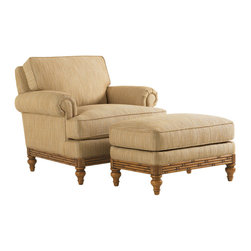 Tommy Bahama Home - Tommy Bahama Beach House Golden Isle Chair Ottoman - Beach House by Tommy Bahama Home brings a fresh new take to relaxed waterfront living. The legendary brand is known for its sophisticated interpretation of laid back island style.
