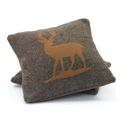 Go Home - Wool Deer Pillows, Set of 2 - Deer Pillow look great with your designs, text, monogram, and photos. The perfect complement to your couch, custom pillows will make you the envy of the neighborhood.Available in set of 2