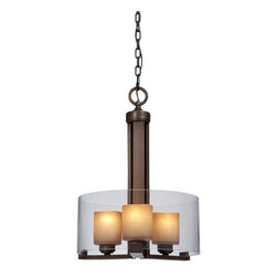 "Artcraft Lighting - Artcraft Lighting AC1240 Santa Cruz Traditional Flush Mount Ceiling Light - As one of the earliest settlements of the Spanish during the exploration of Alta in the later part of 1700's, with its Coastal Redwoods, idyllic beaches and diverse community, ""Santa Cruz"" is the inspirational recreation of our designers, marrying a weave of dark redwood style finishes with light linen glassware."