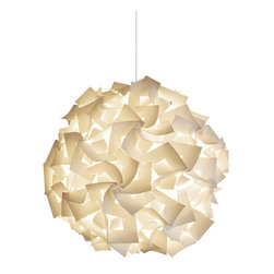 Akari Lanterns - Squares Hanging Pendant Lamp, Deluxe - Bring the luminous magic of a Chinese paper lantern into your home with this square-cut version, which is a cinch to capture and hang from the ceiling with its 12-foot cord. The soft glow it creates bathes the room in milky light and sets the mood for relaxation, happiness and wonder. Beautiful lit or simply serving as a sculptural focal point, it comes in three sizes to match the scale of your space and the bounds of your imagination.