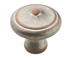 Essentials Solid Brass Round Knob - The Essentials Solid Brass Round Knob is accented with textured details. Multiple finishes make this knob the perfect complement for any decor.