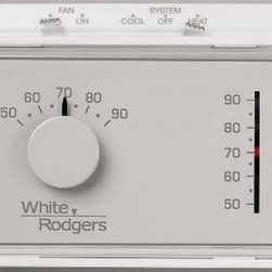 WHITE RODGERS - White Rodgers Mercury Free Mechanical T-Stat - Features:
