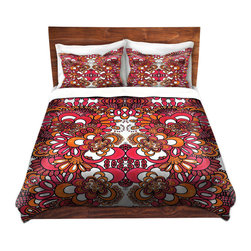 DiaNoche Designs - Duvet Cover Microfiber by Susie Kunzelman - Summer Scent II - DiaNoche Designs works with artists from around the world to bring unique, artistic products to decorate all aspects of your home.  Super lightweight and extremely soft Premium Microfiber Duvet Cover (only) in sizes Twin, Queen, King.  Shams NOT included.  This duvet is designed to wash upon arrival for maximum softness.   Each duvet starts by looming the fabric and cutting to the size ordered.  The Image is printed and your Duvet Cover is meticulously sewn together with ties in each corner and a hidden zip closure.  All in the USA!!  Poly microfiber top and underside.  Dye Sublimation printing permanently adheres the ink to the material for long life and durability.  Machine Washable cold with light detergent and dry on low.  Product may vary slightly from image.  Shams not included.