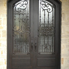 Traditional Front Doors by D'Hierro Hand Forged Iron