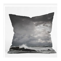 Bird Wanna Whistle White Water Throw Pillow