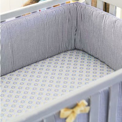 Serena & Lily - Graham Crib Bumper - Graham's understated seersucker is warmed up with sunny golden accents.