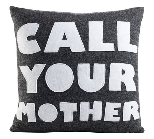 alexandra ferguson llc - Call Your Mother, Charcoal/White - The gift that keeps on giving....The perfect send-off for the recent college graduate, or just a little reminder for all your kids.  MADE IN THE USA
