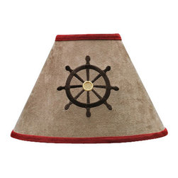 Sweet Jojo Designs - Pirate Treasure Cove Lamp Shade - The Pirate Treasure Cove lamp shade will help complete the look of your Sweet Jojo Designs room. This adorable lamp shade will most standard lamp bases (base not included). Dimensions: 4in. x 7in. x 10in.