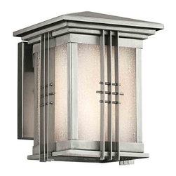 Kichler Lighting - Kichler Lighting 49157SS Portman Square Stainless Steel Outdoor Sconce - Kichler Lighting 49157SS Portman Square Stainless Steel Outdoor Sconce
