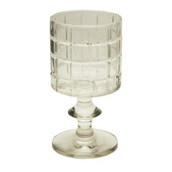 Square Illusion Candle Holder - Small cut glass votive candle holder. Lovely when grouped together on a mantle or coffee table.