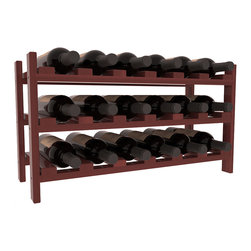 Wine Racks America - 18 Bottle Stackable Wine Rack in Redwood, Cherry Stain + Satin Finish - Expansion to the next level! Stack these 18 bottle kits as high as the ceiling or place a single one on a counter top. Designed with emphasis on function and flexibility, these DIY wine racks are perfect for young collections and expert connoisseurs.