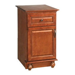 DHI-Corp - Montclair Chestnut Glaze Linen Bottom Vanity Cabinet with 1-Door and 1-Drawer - The Design House 540872 Montclair Chestnut Glaze Linen Bottom Vanity Cabinet is made of solid wood door and drawer frames and finished in a chestnut glaze with a water resistant coat. This product features oil rubbed bronze hardware, particle board side panels and concealed hinges. Easily adjust shelves inside this cabinet to store your personal items and reversible doors make installation easy. Measuring 35-inches by 22.5-inches by 18-inches, this cabinet fits in a medium sized bathroom while providing storage for towels and cleaning supplies. With its ball bearings, the full extension drawer glides open smoothly. This product comes pre-assembled and features a modern aesthetic that matches traditional furnishings and granite tops. The Design House 540872 Montclair Chestnut Glaze Linen Bottom Vanity Cabinet has a 1-year limited warranty that protects against defects in materials and workmanship. Design House offers products in multiple home decor categories including lighting, ceiling fans, hardware and plumbing products. With years of hands-on experience, Design House understands every aspect of the home decor industry, and devotes itself to providing quality products across the home decor spectrum. Providing value to their customers, Design House uses industry leading merchandising solutions and innovative programs. Design House is committed to providing high quality products for your home improvement projects.