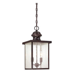 Savoy House - Savoy House 5-603-13 Newberry Hanging Exterior Lantern - Give your home some curb appeal with Newbrerry, a classic outdoor light with Seedy glass and a rich English Bronze finish.