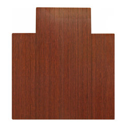 """Anji Rugs - Bamboo Roll-Up Chairmat, 44"""" x 52"""", with lip - Dark Cherry - Our patented Bamboo Office Chairmats have introduced eco-friendly style to what was formerly an unattractive and purely functional accessory. Naturally elegant bamboo is more durable than a plastic mat and adds a charming organic touch to any area."""
