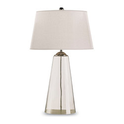 Currey & Co - Currey & Co 6370 Atlantis Clear Glass Table Lamp - 1 Bulb, Bulb Type: 150 Watt Edison; Weight: 5lbs