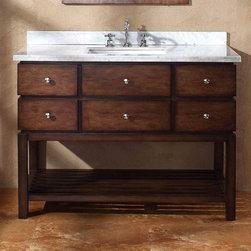 "Traditional bathroom vanities - James Martin Solid Wood 48"" Moria Single Bathroom vanity with a Countertop 206-001-5127 - Homethangs.com"
