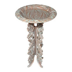 Butterfly Birdbath and Pedestal