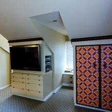 Eclectic Bedroom by Robin Hiken Interiors