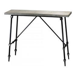 "Joshua Marshal - Ivory and Black 30.25"" Doris Console Table - Ivory and Black 30.25"" Doris Console Table"