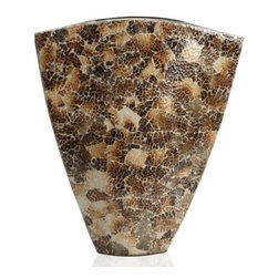 "Z Gallerie - Ular Vase - 19.5""H - Distinct in both shape and texture, our Ular Vase naturalistic appearance is sure to garner attention. Uniquely hand-crafted out of burnt eggshells affixed to a ceramic cast impressively finished with a high gloss lacquer; our exclusive Ular Vase is both refined and impressive. Due to its unique nature, no two vases are alike. Suggested for use with decorative flowers or foliage only."