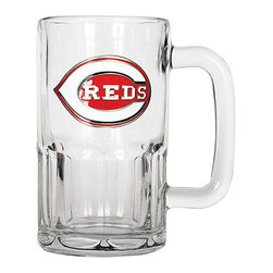 Great American Products - Cincinnati Reds Root Beer Mug - Great for soda or suds, this top-of-the-line mug promises spirited sipping on game day and beyond.   Holds 20 oz. Glass Hand wash Imported