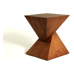 Control Brand - The Ystad Side Table - The Ystad Side Table is crafted as pyramid side table with a solid wood base veneered in real American Walnut. This side table is made from two symmetrical pyramid interlocking pieces to form a self-stabilizing side table. This exceptional reproduction is made from the highest quality materials and workmanship to provide you with countless years of enjoyment. Simple assembly required.