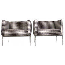 Modern Living Room Chairs Knoll Houndstooth Club Chairs