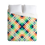 Budi Kwan Retrographic Rainbow Twin Duvet Cover - You're bound to have some vivid dreams with this incredible duvet cover. Made of ultra soft woven polyester, it's got a solid white bottom so your patterned sheets won't clash.