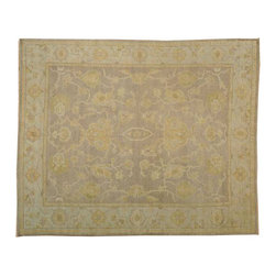 1800-Get-A-Rug - Oushak Oriental Rug Hand Knotted Rug Taupe Natural Dyes Sh13057 - About Oushak and Ziegler Mahal