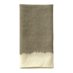 Ombre Dyed Guest Towel - Natural / Cream - A guest towel of unconventional beauty that bestows panache to the powder room. The soft, blended coloration of the Ombre Dyed Guest Towel - Natural/Cream suggests the gentle meeting of sun-warmed earth and evening sky. This enchanting towel offers your guests refined comfort, while the soft coloration allows for ease in blending with the appurtenances of transitional baths either subtle or bold in color.