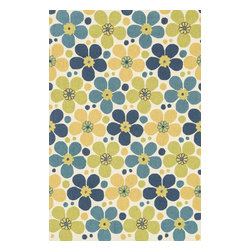 "Loloi Rugs - Loloi Rugs Summerton Collection - Ivory / Blue, 2'-3"" x 3'-9"" Hearth - Lay a new foundation to your favorite room with a hand-crafted rug from the Summerton Collection. Hand-hooked in China of 100% polyester, these spirited rugs earn notice through clean design and quality craftsmanship. And whether you're relaxing after a long day or just enjoying a lazy Sunday, the perfectly plush feel is a real treat for your feet. With shapes available in rectangles, small rounds, hearths, and runners, Summerton has a rug - or two - for any room."