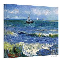 Vincent van Gogh 'Seascape At Saintes Maries' Wrapped Canvas Art -