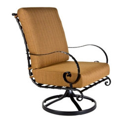 O.W Lee Classico Hi-Back Swivel Rocker Club Chair