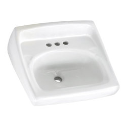 "American Standard - Lucerne 20.5"" Wall Mount Sink with Exposed Bracket Support in White - American Standard 0355.027.020 Lucerne 20.5"" Wall Mount Sink with Exposed Bracket Support in White. To add a clean and polished look to your home's bathroom consider installing the American Standard Lucerne Wall-Mount Bathroom Sink in White. This bathroom sink is made of vitreous china for added durability. The sink bowl has a contoured back and side splash shield. This smooth surface is stain resistant. This bathroom sink includes mounting hardware for an easy installation.American Standard 0355.027.020 Lucerne 20.5"" Wall Mount Sink with Exposed Bracket Support in White, Features:Made of vitreous china for added reinforcement, and easy cleaning solutions to almost any bath"