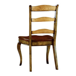 "Hooker Furniture - Vineyard Ladderback Chair - Side - White glove, in-home delivery!  For this item, additional shipping fee will apply.  This magnificent country French dining room collection uses the ""Vineyard"" color palette for a subtle Eurpean two-tone effect.  Seat: 20"" w x 21 1/8"" d x 18 1/4"" h  Arm Height: 26 5/8"" h"