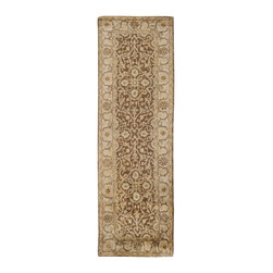 Surya - Surya Vintage Traditional Hand Tufted Wool Rug X-862-0025GTV - Muted tones and antique finishes give the rugs of the Vintage collection an aged and sophisticated look. Luxurious New Zealand Wool in rich golden browns, pale gray and soft ivory are hand tufted in intricate and traditional patterns to create a historical and timeless appearance.