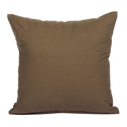 "Blooming Home Decor - Solid Brown Accent / Throw Pillow Cover - (Available in 16""x16"", 20""x20"")"