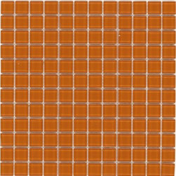 """Crayola - Decorative Glass Mosaics Orange 12"""" x 12"""" - This collection is a translation of all the vibrancy and happiness of the world now available in 18 blends and 42 solid colors. The 1'x1' glass mosaic sheets can be used for indoor and outdoor applications."""