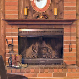 Homestead Fireplace Mantel Shelf - The Homestead Fireplace Mantel Shelf keeps it simple to allow the focus to remain on the fireplace. Each shelf is hand carved and made of solid wood.